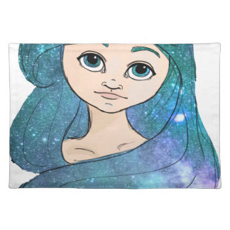 Galaxy Girl Placemat