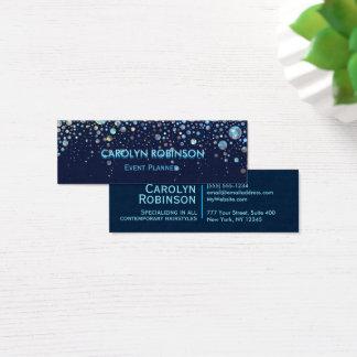 Galaxy Glitter Artwork Bubble Stars Mini Business Card