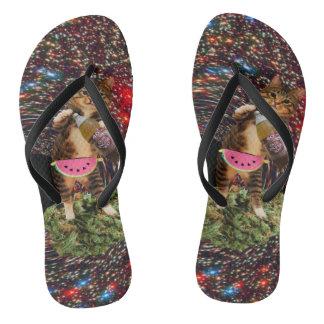 galaxy hole katz flip flops
