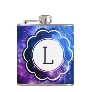 Galaxy Initial Hip Flask