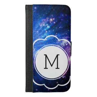 Galaxy Initial iPhone 6/6s Plus Wallet Case