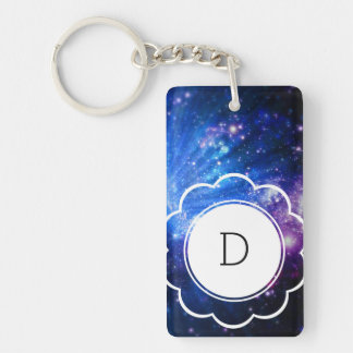 Galaxy Initial Keychain