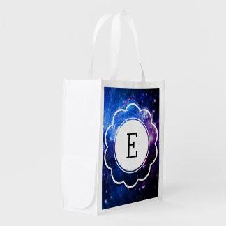 Galaxy Initial Reusable Grocery Bag