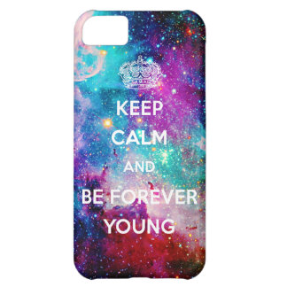 Galaxy Keep Calm and Be Forever Young iPhone 5C Cover