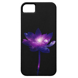Galaxy Lotus Flower - black iPhone 5 Cover