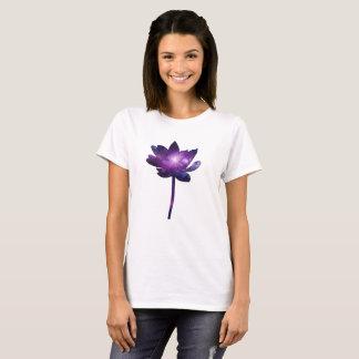 Galaxy Lotus Flower - white T-Shirt