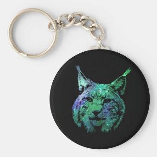 Galaxy Lynx | 3D effect design Basic Round Button Keychain