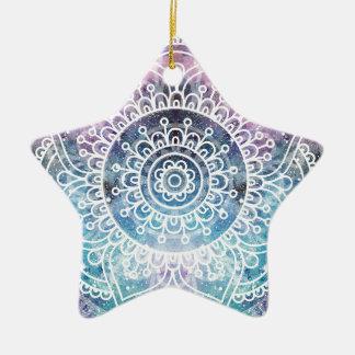Galaxy Mandala Ceramic Ornament