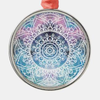 Galaxy Mandala Metal Ornament