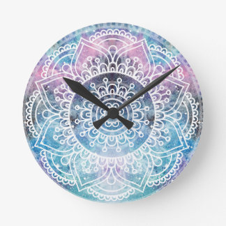 Galaxy Mandala Round Clock