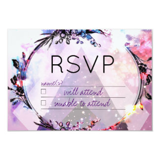 Galaxy Modern Space Hip RSVP Card