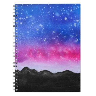 Galaxy Mountain Notebook