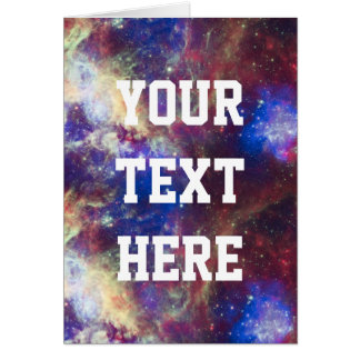 Galaxy Nebula Personalized Astronomy Space Card