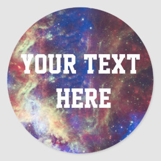 Galaxy Nebula Personalized Astronomy Space Classic Round Sticker