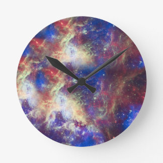 Galaxy Nebula Personalized Astronomy Space Wallclock