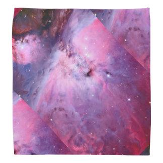 Galaxy Nebula Pink Stars Night Sky Print Astronomy Head Kerchiefs