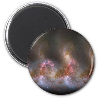Galaxy Nebula Print 2 Inch Round Magnet