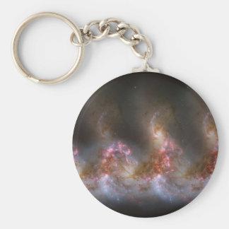 Galaxy Nebula Print Keychain