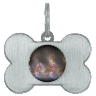 Galaxy Nebula Print Pet ID Tag
