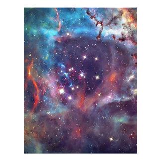 Galaxy Nebula space image. Letterhead Design