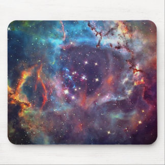 Galaxy Nebula space image. Mouse Pad