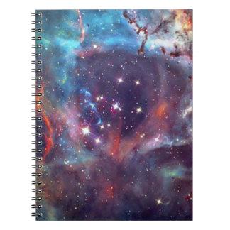 Galaxy Nebula space image Spiral Note Books