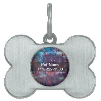 Galaxy Nebula space image. Pet Name Tags