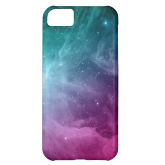 Galaxy Nebula Stars Teal Pink Clouds Cover For iPhone 5C