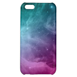 Galaxy Nebula Stars Teal Pink Clouds iPhone 5C Cases