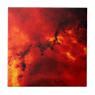 Galaxy On Fire Ceramic Tile