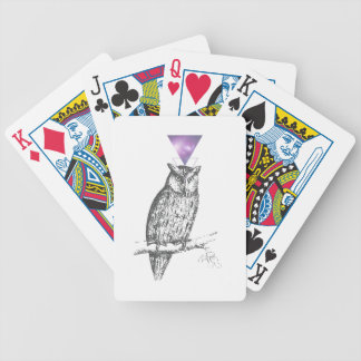 Galaxy owl 1 bicycle playing cards