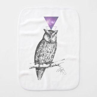 Galaxy owl 1 burp cloth