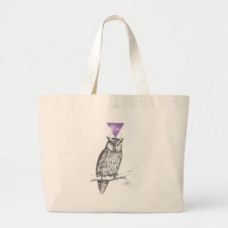 Galaxy owl 1 large tote bag