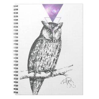 Galaxy owl 1 notebook