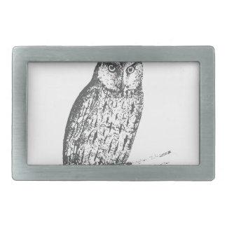 Galaxy owl 1 rectangular belt buckles