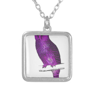 Galaxy owl 3 silver plated necklace