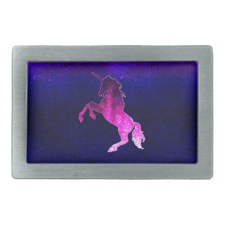 Galaxy pink beautiful unicorn sparkly image belt buckles