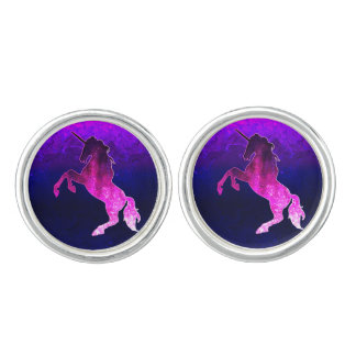 Galaxy pink beautiful unicorn sparkly image cufflinks