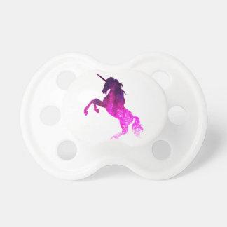 Galaxy pink beautiful unicorn sparkly image pacifier