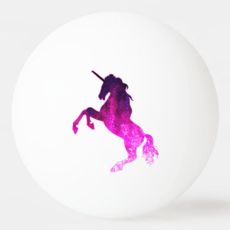 Galaxy pink beautiful unicorn sparkly image ping pong ball