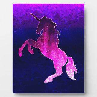Galaxy pink beautiful unicorn sparkly image plaque