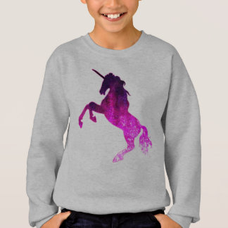 Galaxy pink beautiful unicorn sparkly image sweatshirt