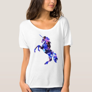 Galaxy pink beautiful unicorn sparkly image T-Shirt