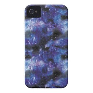 galaxy pixel art in blue iPhone 4 case