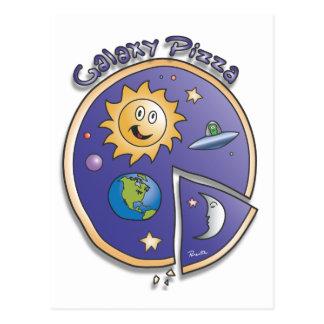 Galaxy Pizza Cartoon by Parente Postcard
