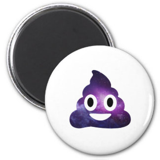 Galaxy Poo Emoji 2 Inch Round Magnet