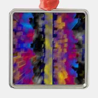 Galaxy Premium Square Metal Ornament