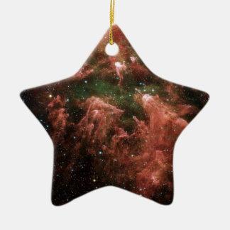 Galaxy Print Ceramic Star Ornament