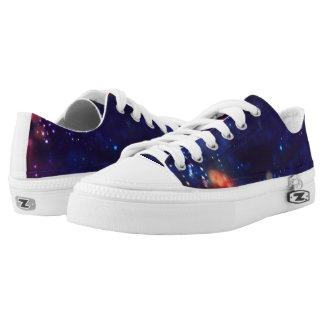 Galaxy Print. Low-Top Sneakers