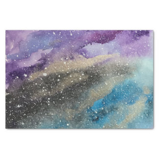 Galaxy Print Outer Space Watercolor Tissue Paper
